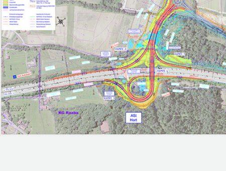A2 Süd Autobahn Ast Hart bei Graz